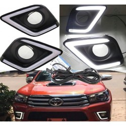 COVER HALOGENOS  HILUX REVO CON LED 2016-2017